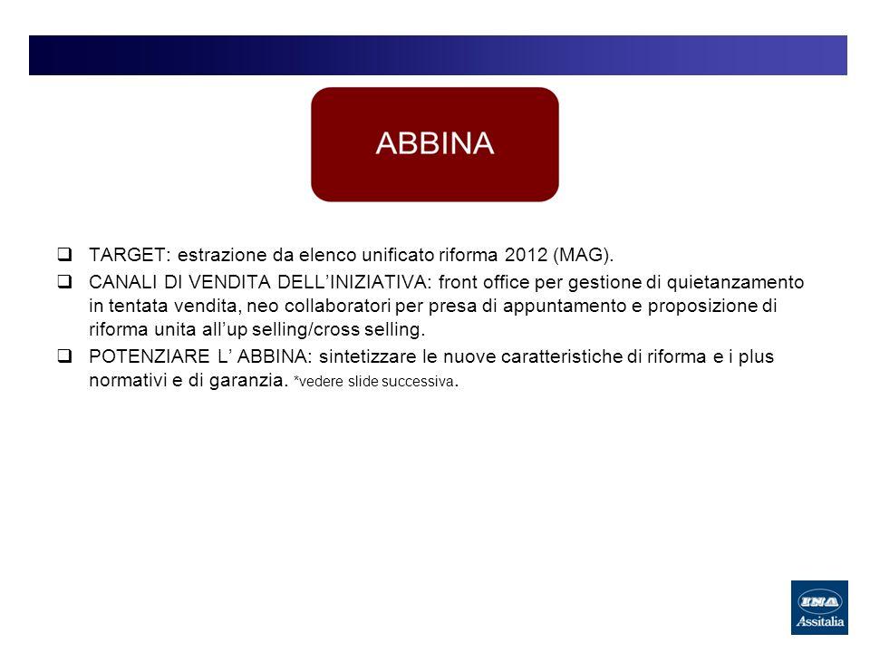 TARGET: estrazione da elenco unificato riforma 2012 (MAG).