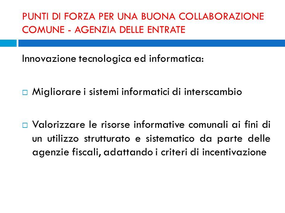 Innovazione tecnologica ed informatica: