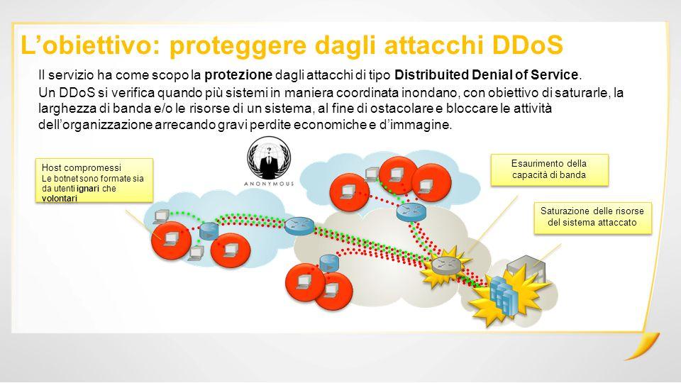 L'obiettivo: proteggere dagli attacchi DDoS