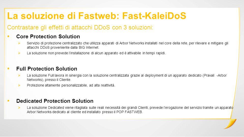 La soluzione di Fastweb: Fast-KaleiDoS