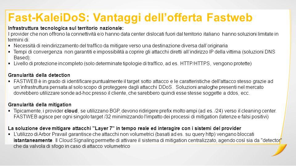 Fast-KaleiDoS: Vantaggi dell'offerta Fastweb