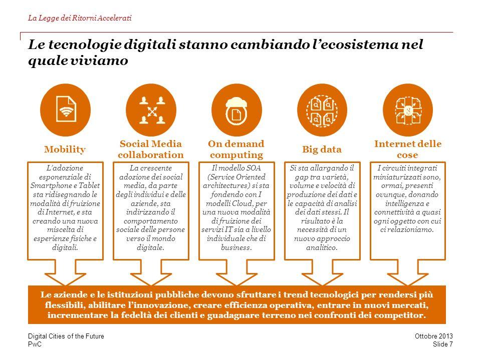 Le tecnologie digitali stanno cambiando l'ecosistema nel quale viviamo
