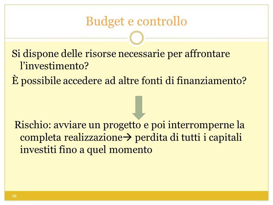 Budget e controllo