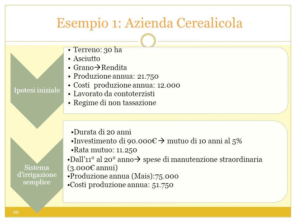 Esempio 1: Azienda Cerealicola