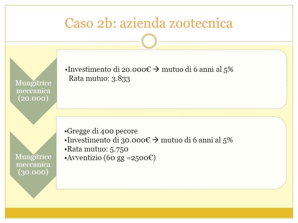 Caso 2b: azienda zootecnica