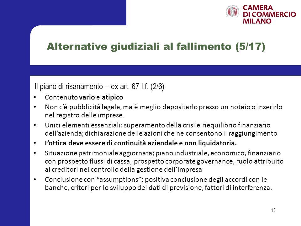 Alternative giudiziali al fallimento (5/17)