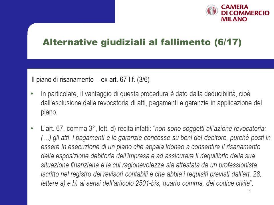 Alternative giudiziali al fallimento (6/17)