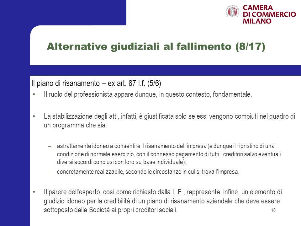 Alternative giudiziali al fallimento (8/17)