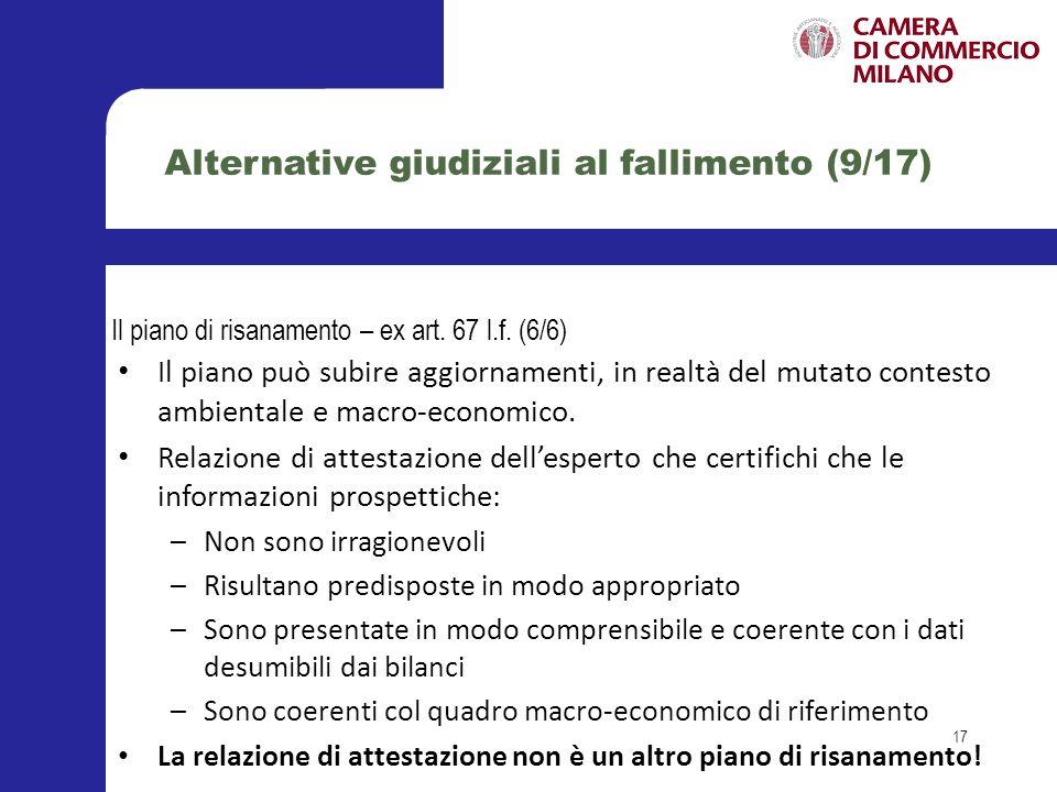 Alternative giudiziali al fallimento (9/17)