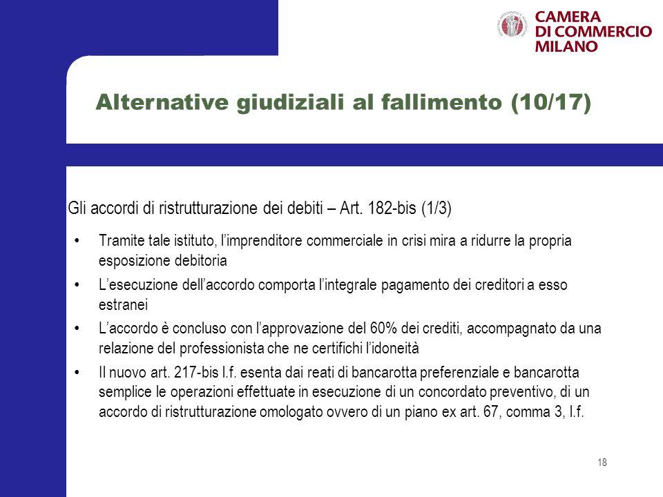 Alternative giudiziali al fallimento (10/17)