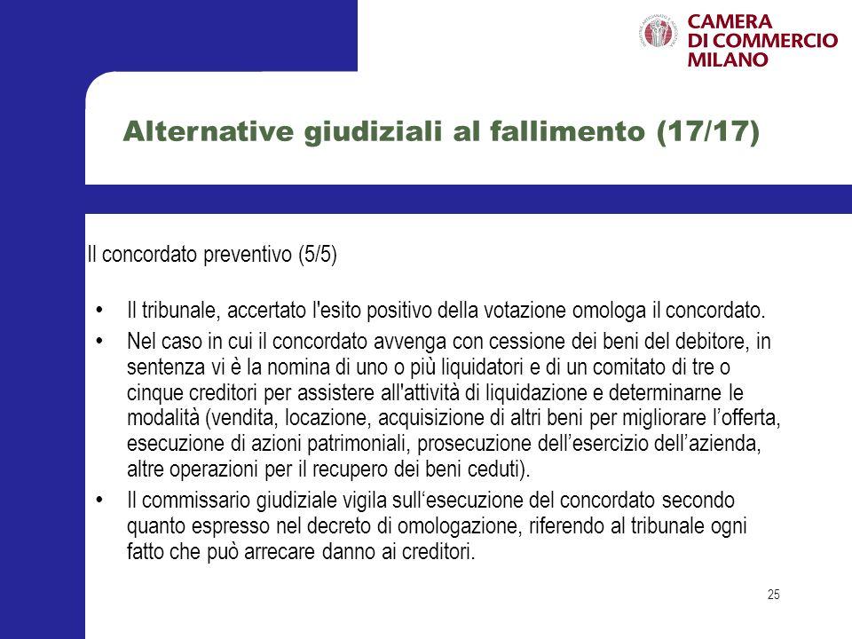 Alternative giudiziali al fallimento (17/17)