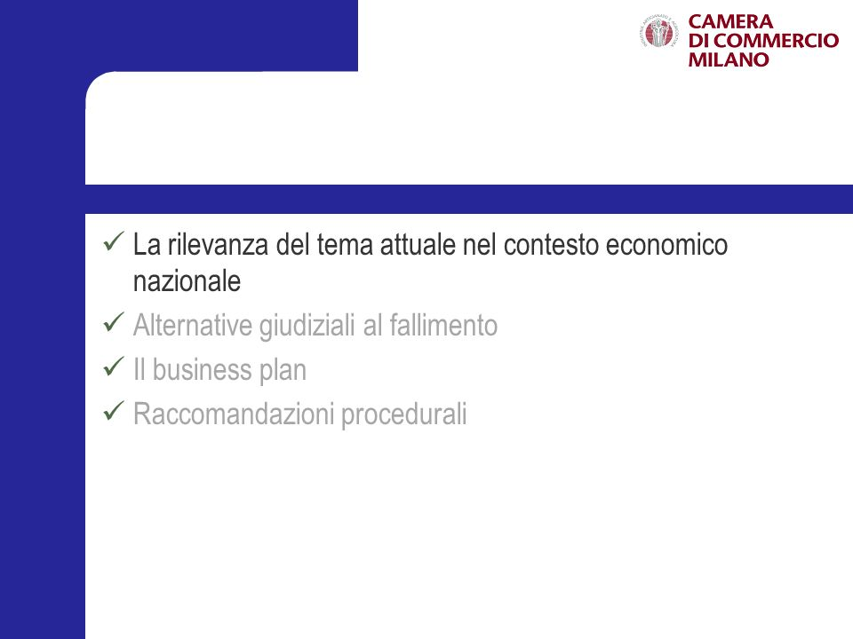 La rilevanza del tema attuale nel contesto economico nazionale
