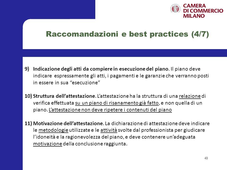 Raccomandazioni e best practices (4/7)