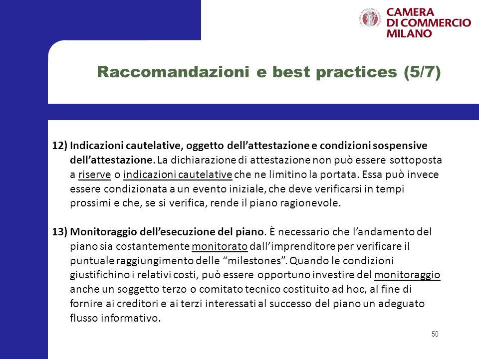 Raccomandazioni e best practices (5/7)