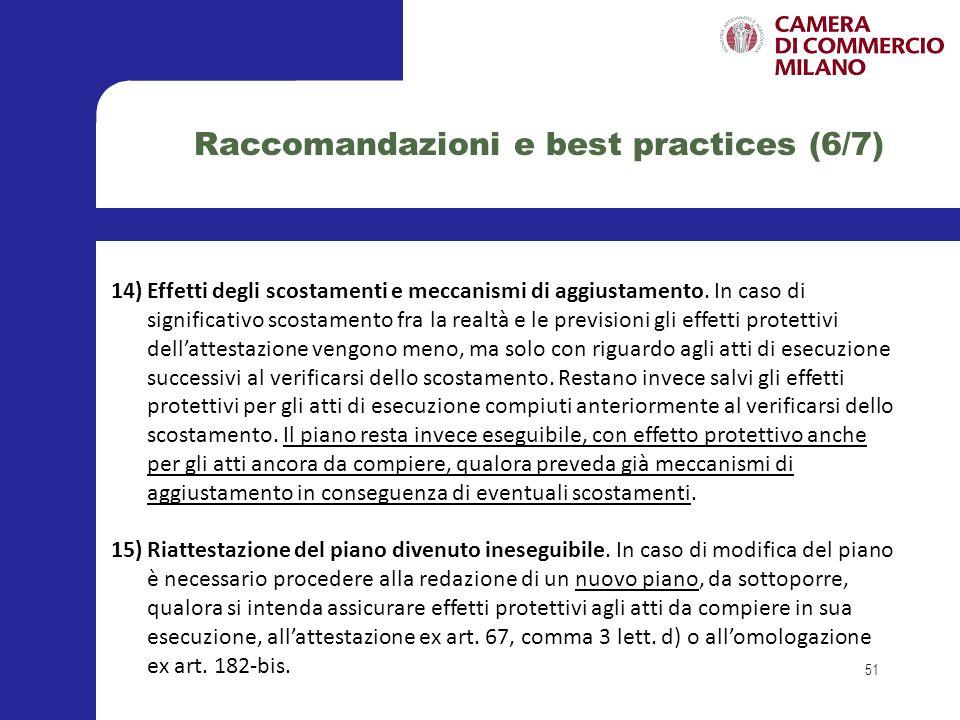 Raccomandazioni e best practices (6/7)