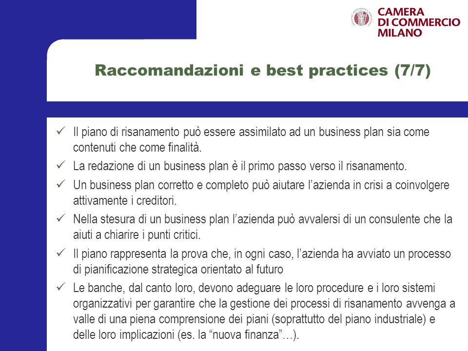 Raccomandazioni e best practices (7/7)
