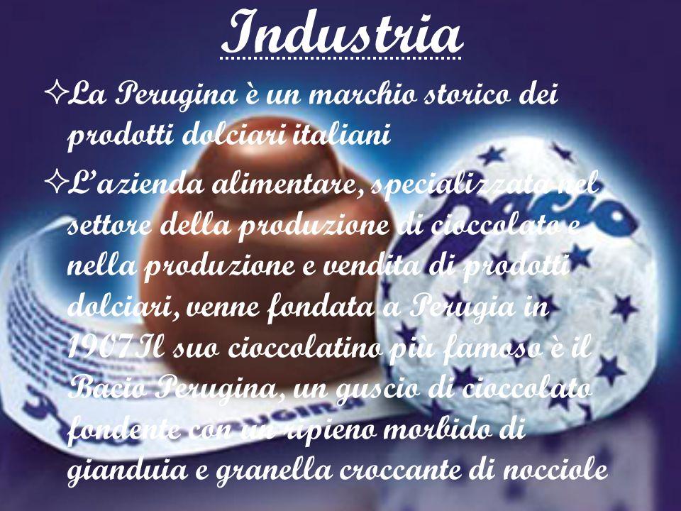 Industria La Perugina è un marchio storico dei prodotti dolciari italiani.