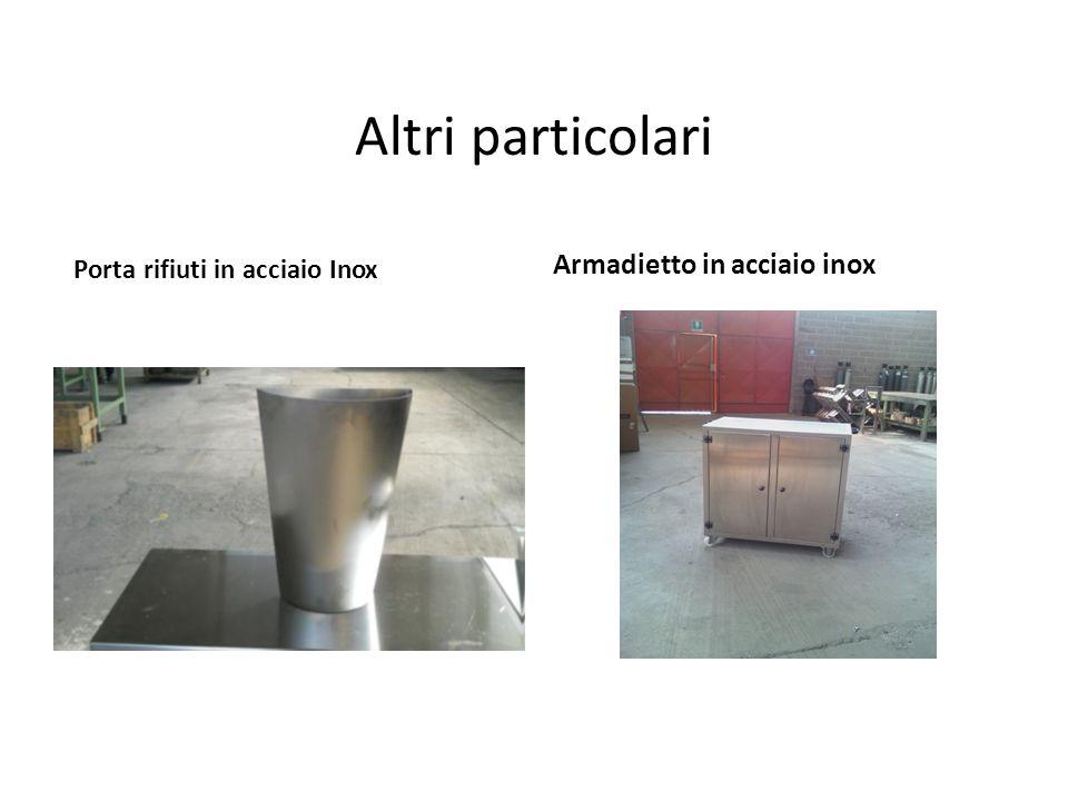 Altri particolari Armadietto in acciaio inox