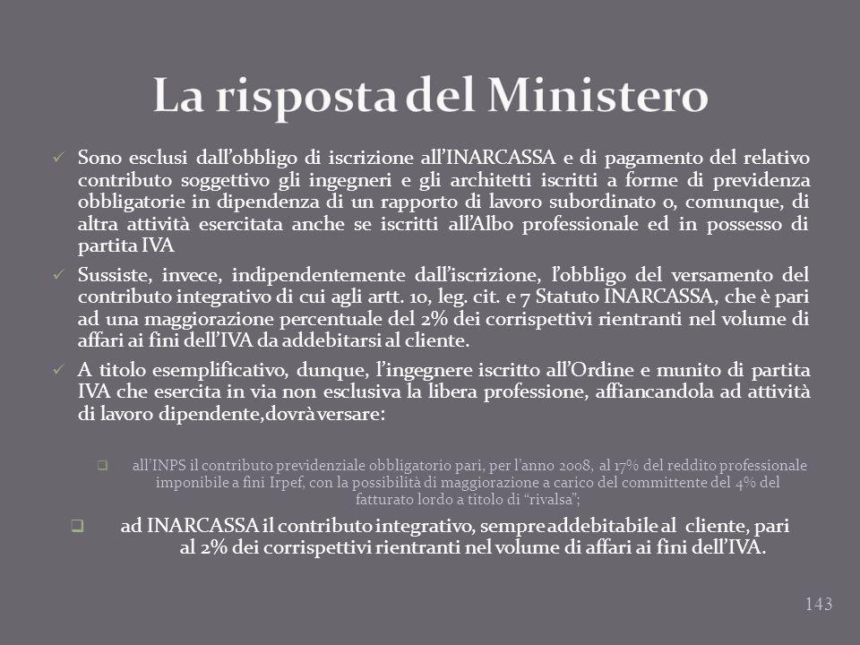 La risposta del Ministero