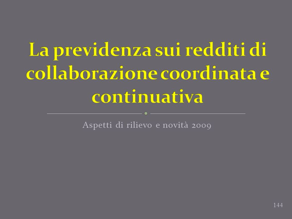 La previdenza sui redditi di collaborazione coordinata e continuativa