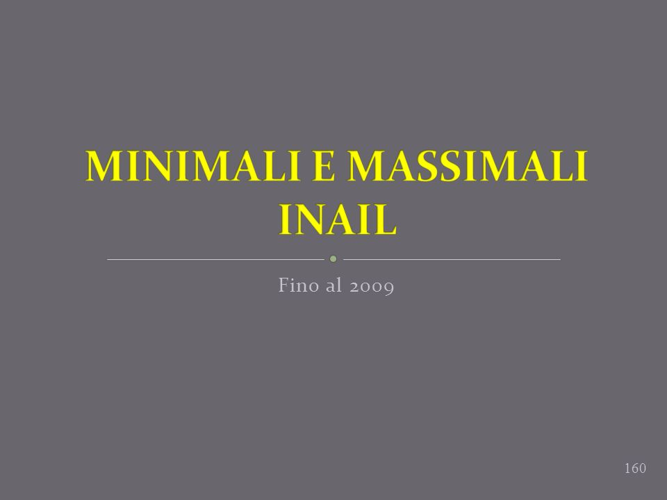 MINIMALI E MASSIMALI INAIL