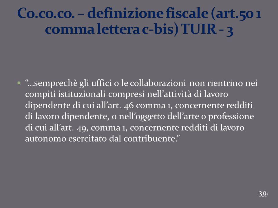 Co. co. co. – definizione fiscale (art
