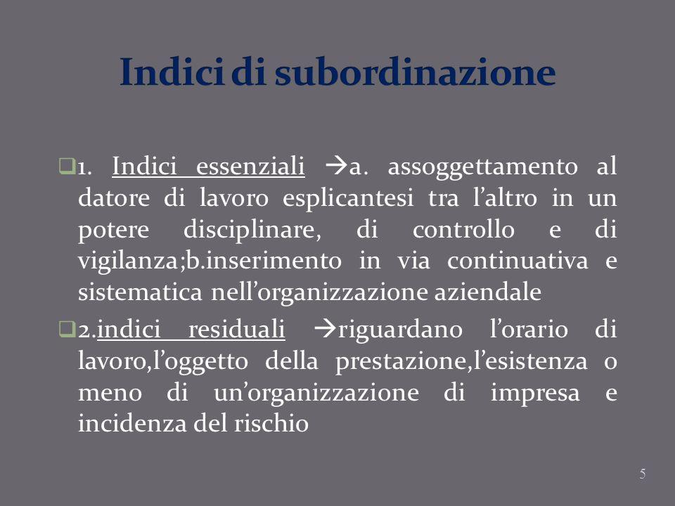 Indici di subordinazione