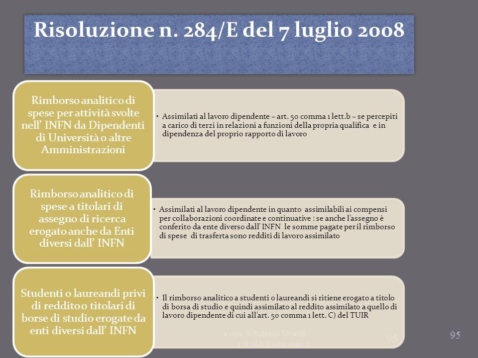 Risoluzione n. 284/E del 7 luglio 2008