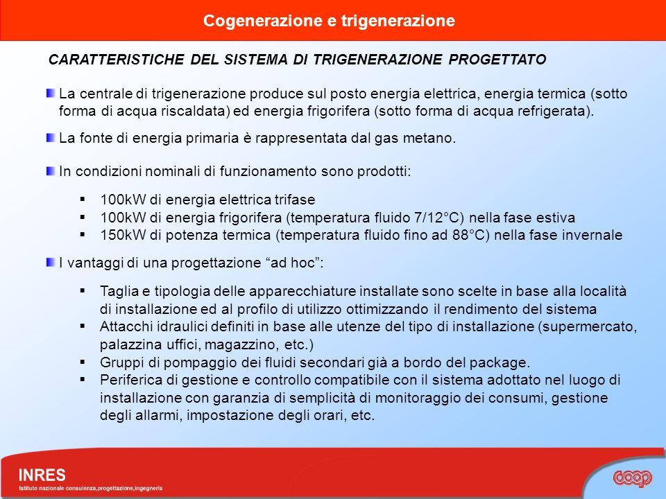 CARATTERISTICHE DEL SISTEMA DI TRIGENERAZIONE PROGETTATO