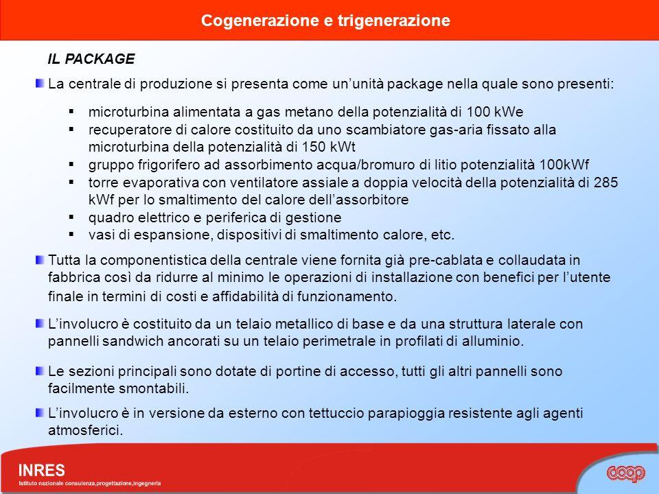 IL PACKAGE La centrale di produzione si presenta come un'unità package nella quale sono presenti:
