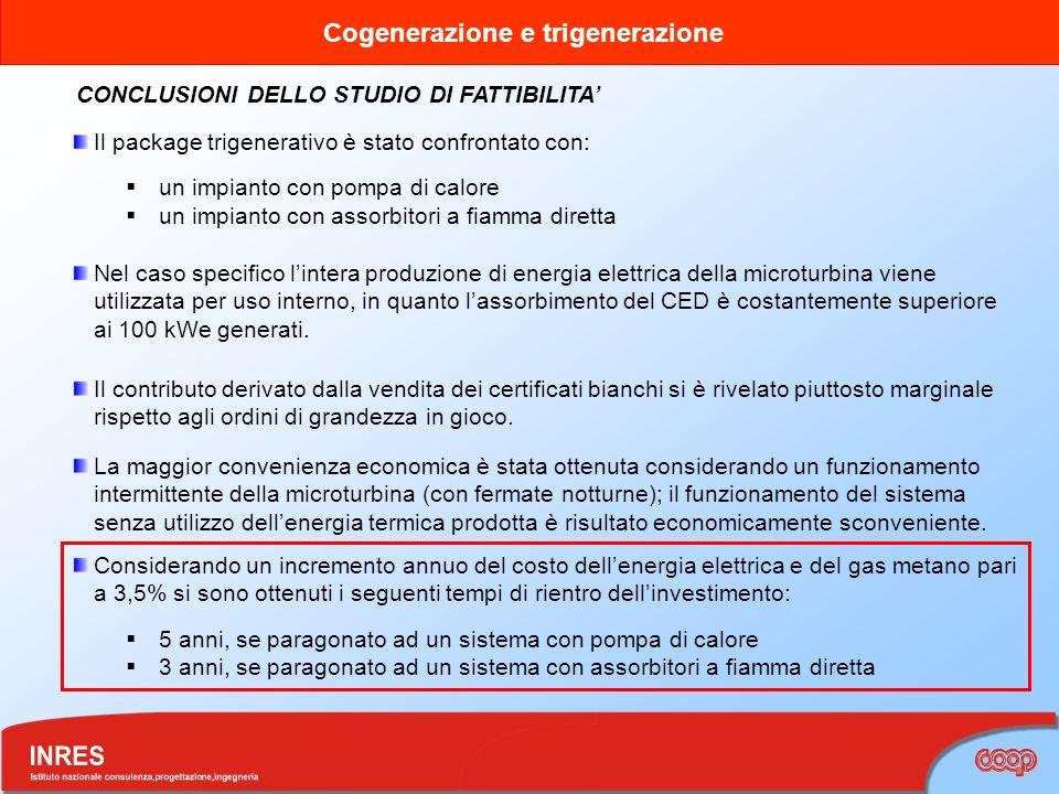 CONCLUSIONI DELLO STUDIO DI FATTIBILITA'