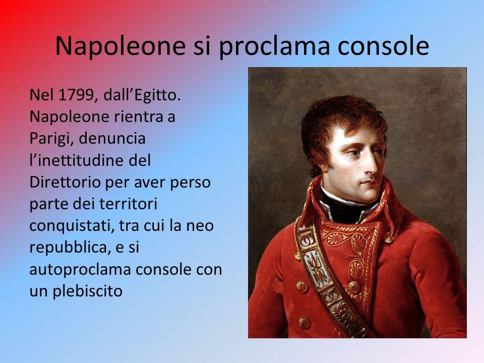 Napoleone si proclama console