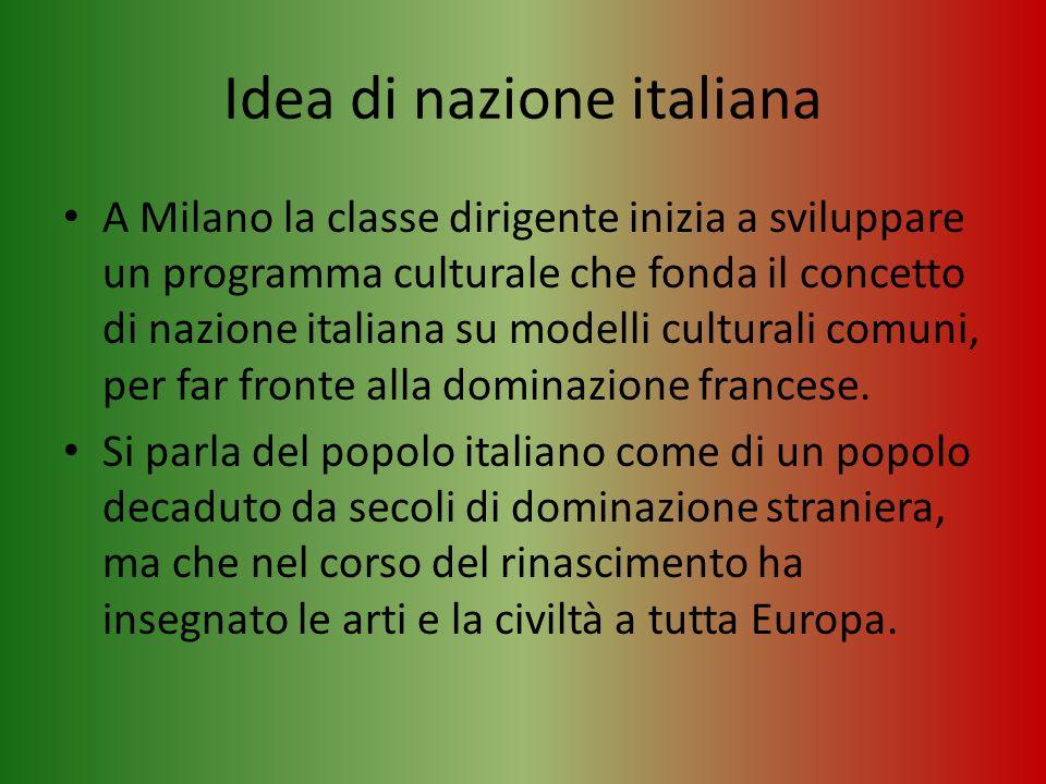 Idea di nazione italiana