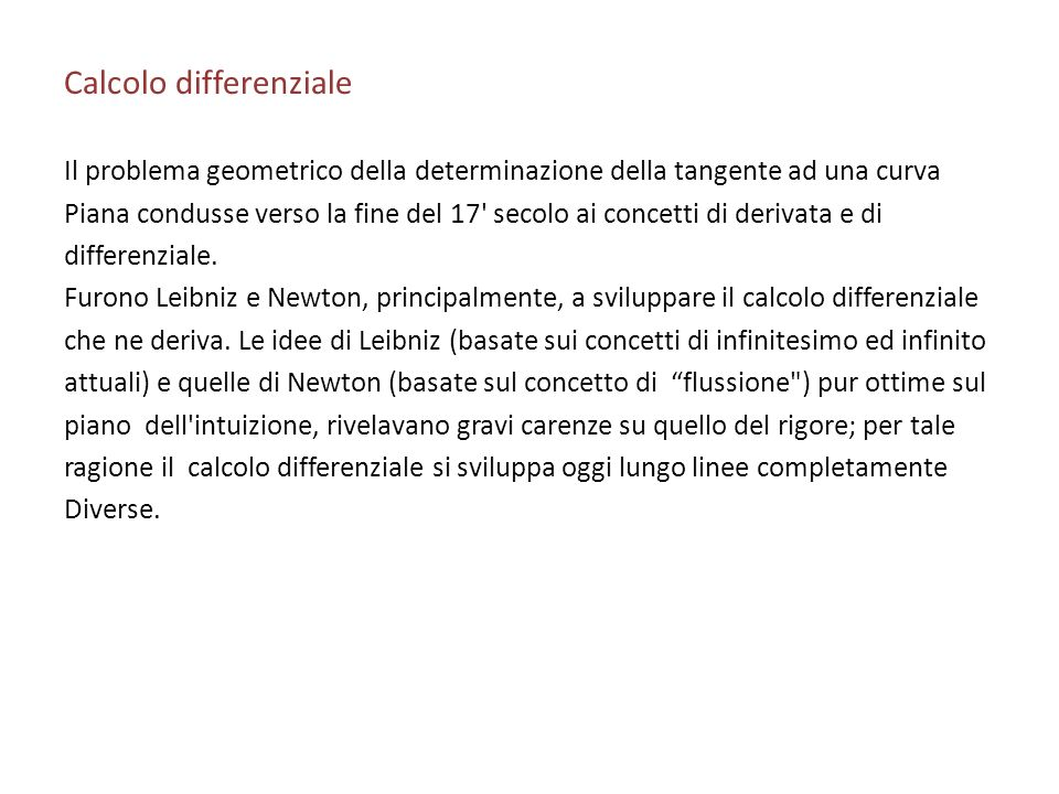 Calcolo differenziale