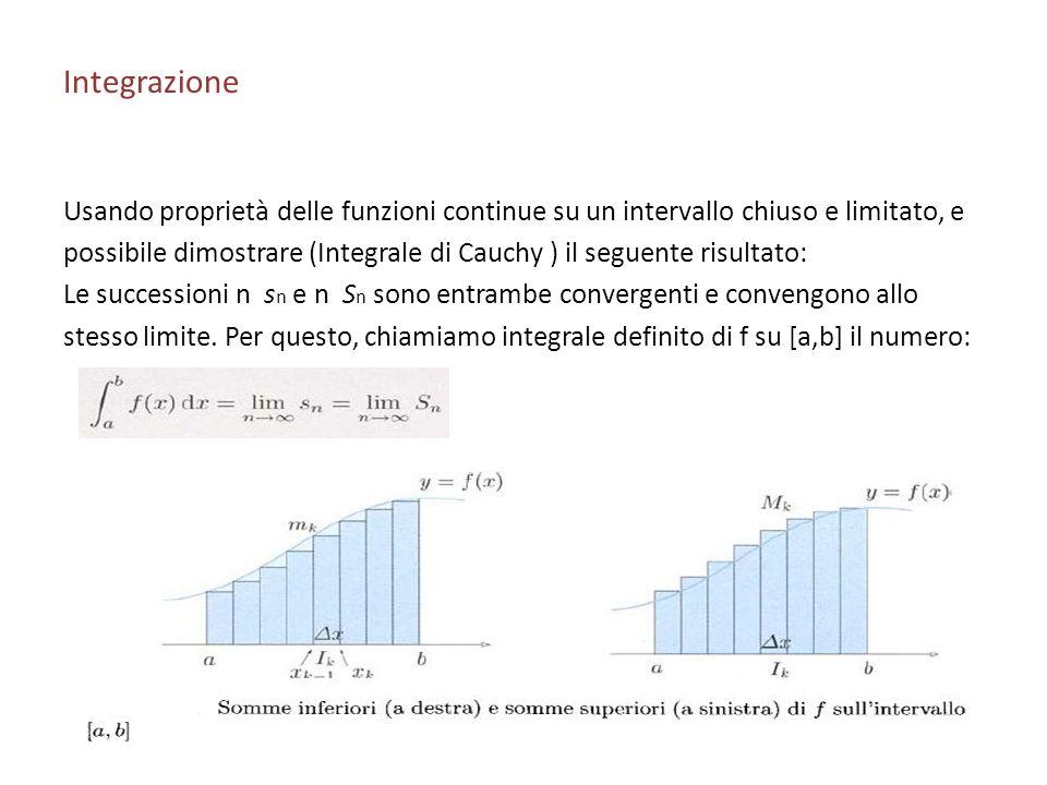 Integrazione Usando proprietà delle funzioni continue su un intervallo chiuso e limitato, e.