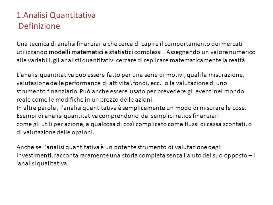 1.Analisi Quantitativa Definizione