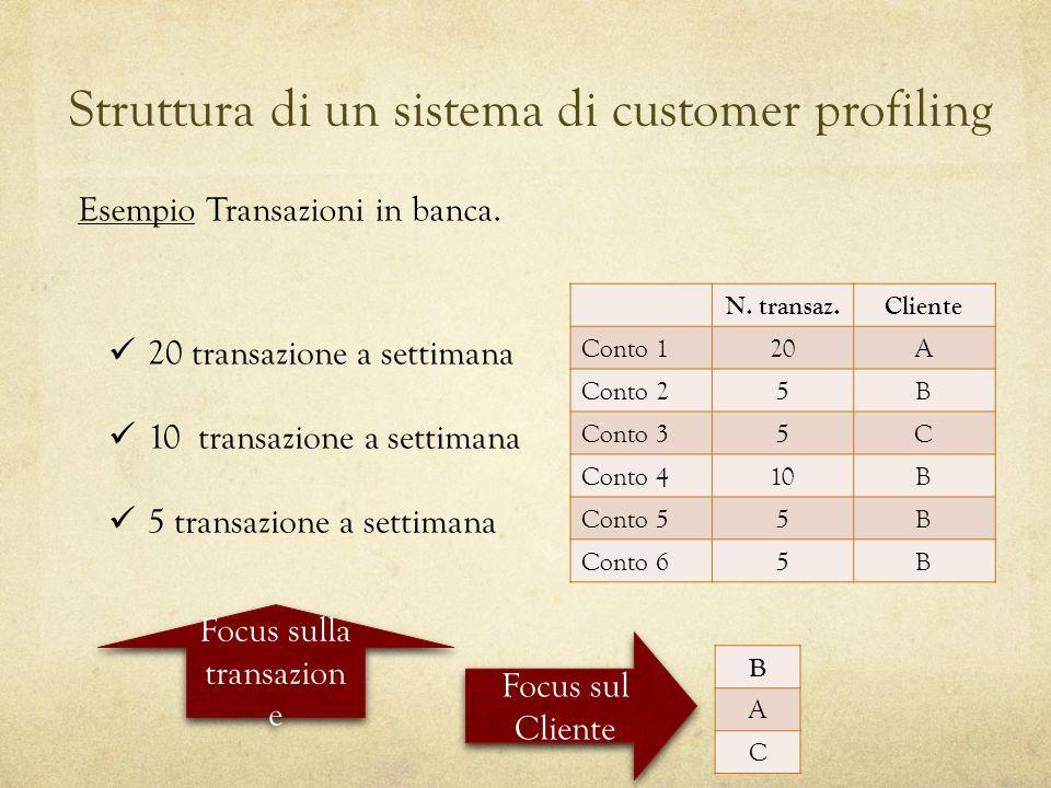 Struttura di un sistema di customer profiling