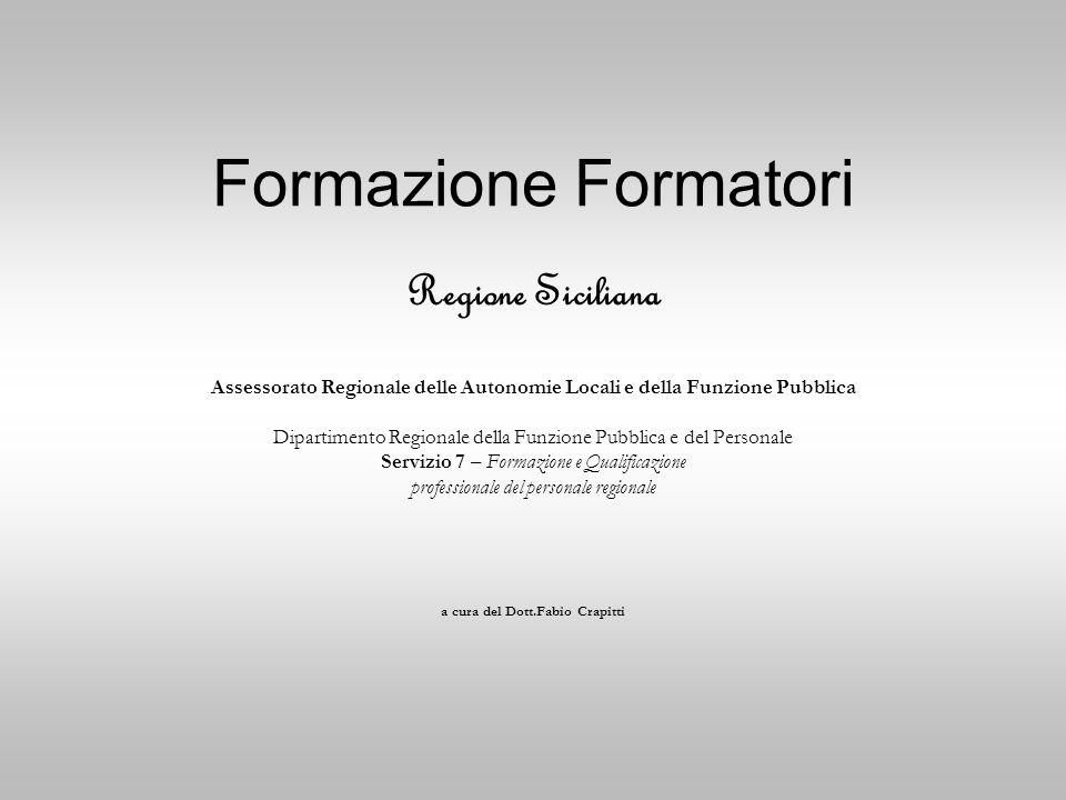 Formazione Formatori Regione Siciliana
