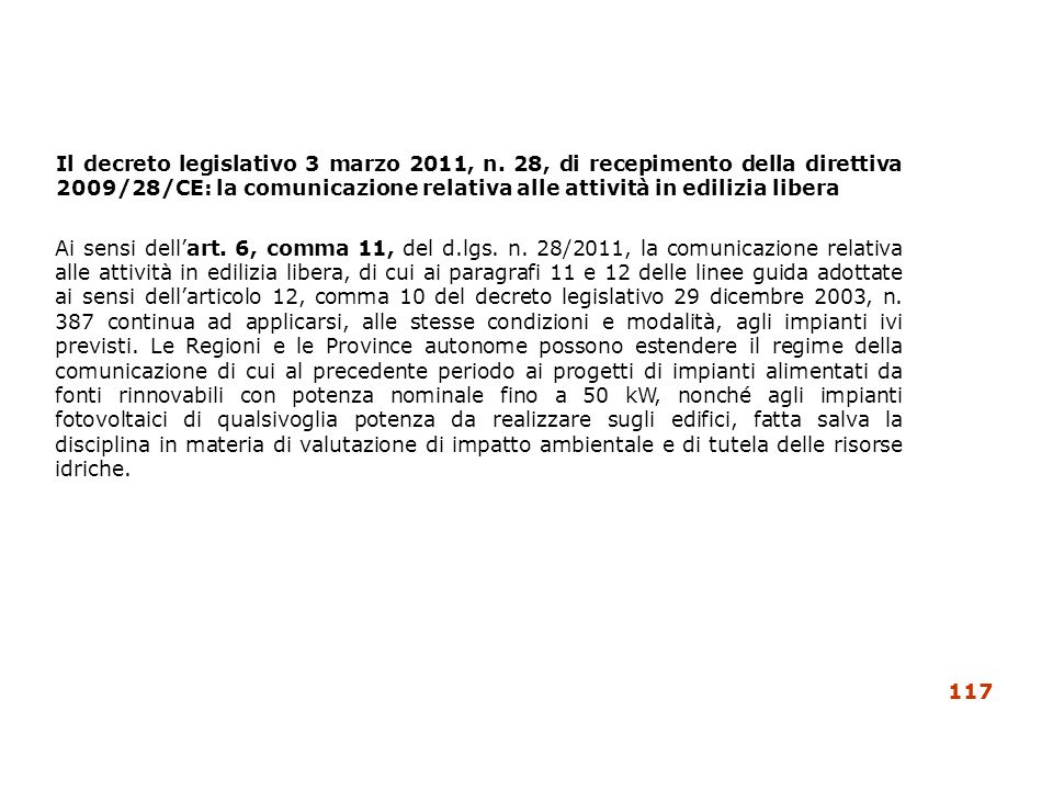 Il decreto legislativo 3 marzo 2011, n