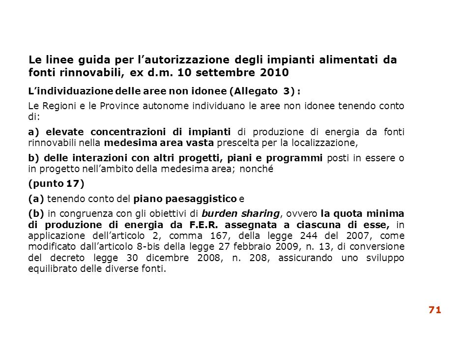 Le linee guida per l'autorizzazione degli impianti alimentati da fonti rinnovabili, ex d.m. 10 settembre 2010