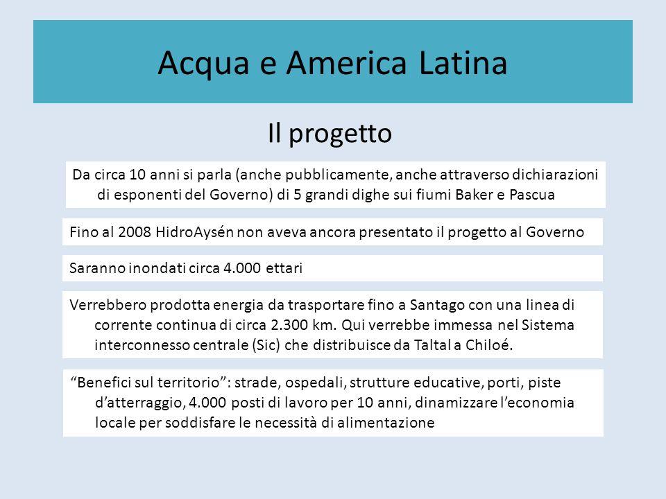 Acqua e America Latina Il progetto