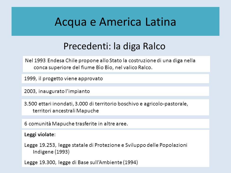 Precedenti: la diga Ralco