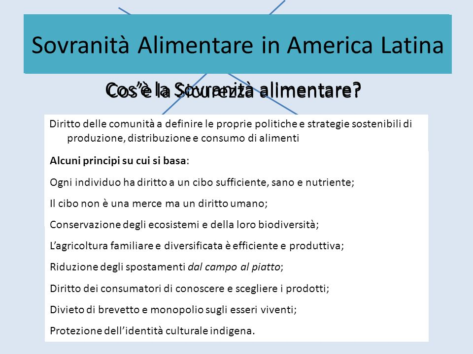 Sicurezza Alimentare in America Latina