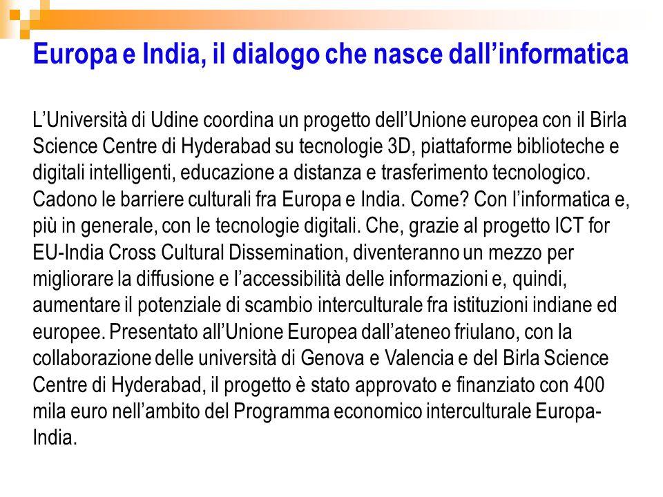 Europa e India, il dialogo che nasce dall'informatica