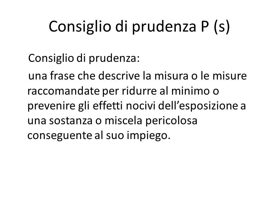 Consiglio di prudenza P (s)