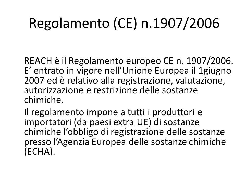 Regolamento (CE) n.1907/2006