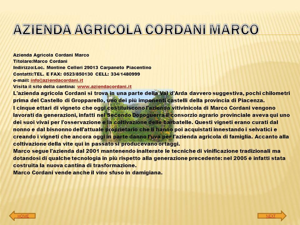 AZIENDA AGRICOLA CORDANI MARCO