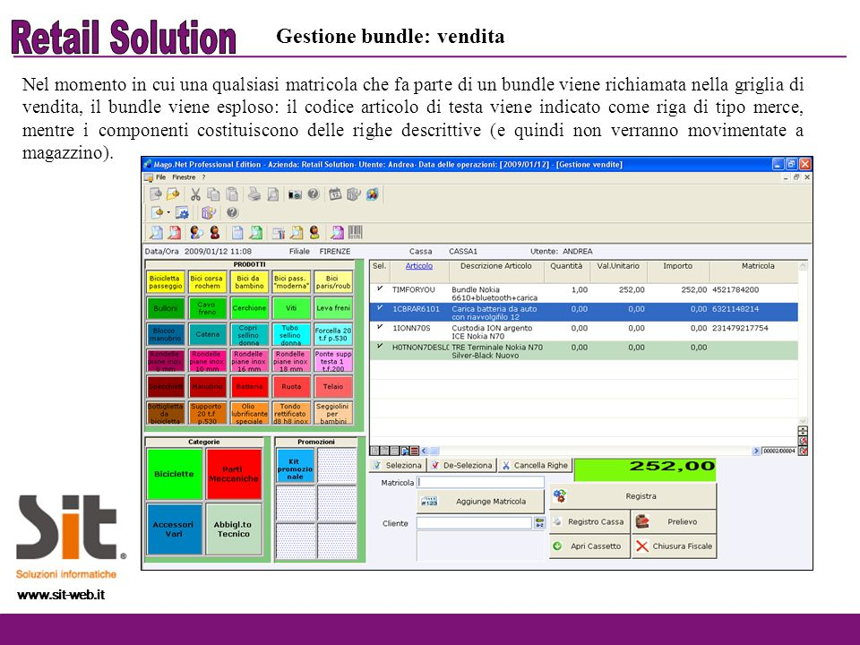 Retail Solution Gestione bundle: vendita