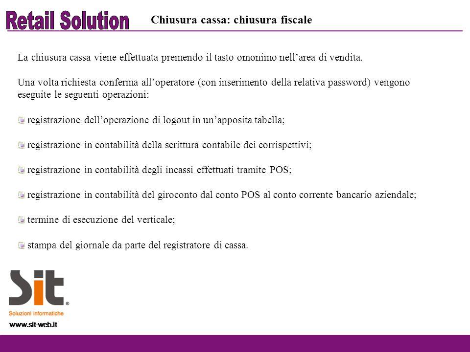 Retail Solution Chiusura cassa: chiusura fiscale