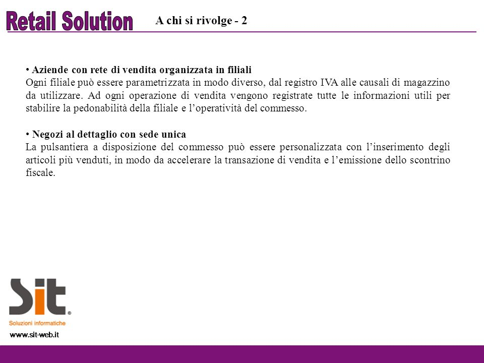 Retail Solution A chi si rivolge - 2